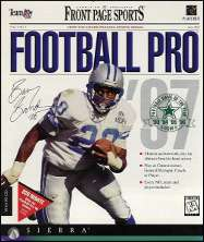Front Page Sports Pro Football 1997 Box Art