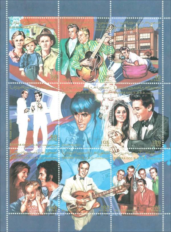 Elvis Presley Souvenir Sheet